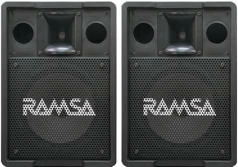Ramsa WS-A200 – la paire + 1 amplificateur Yamaha