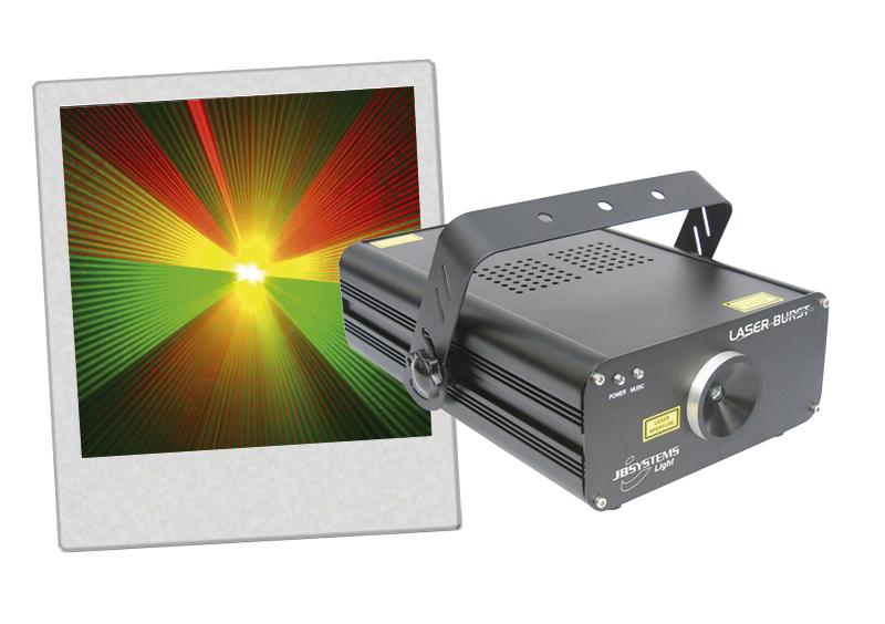 Laser Burst vert et rouge DMX