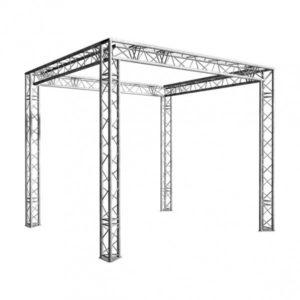 Grill alu en location 4 x 4 x 3 m pour stand, décoration en location