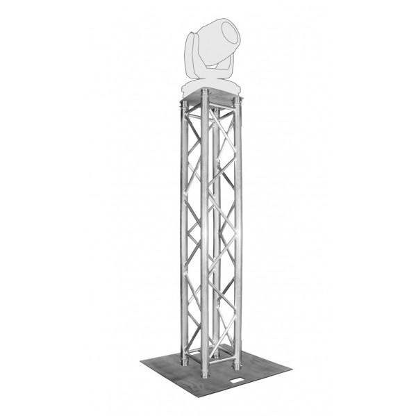 Totem en hauteur variable pour décoration, projecteurs