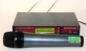 Micro HF Sennheiser Micro Chant HF sans fil EW 100 G2