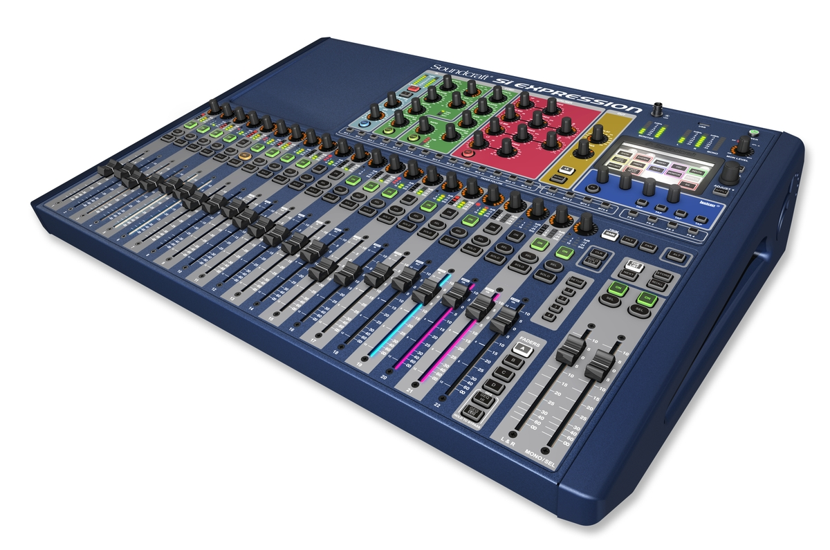 OCCASION CONSOLE SOUNDCRAFT SI EXPRESSION 2 24 VOIES + STAGEBOX 32 + FLYS