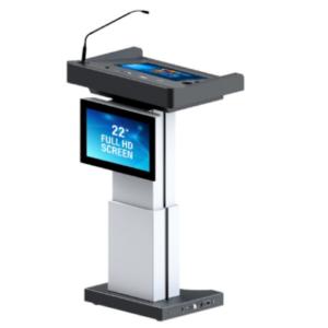 Pupitre de conférence multimédias numérique TEMAS DL22A-M avec réglage hauteur motorisé