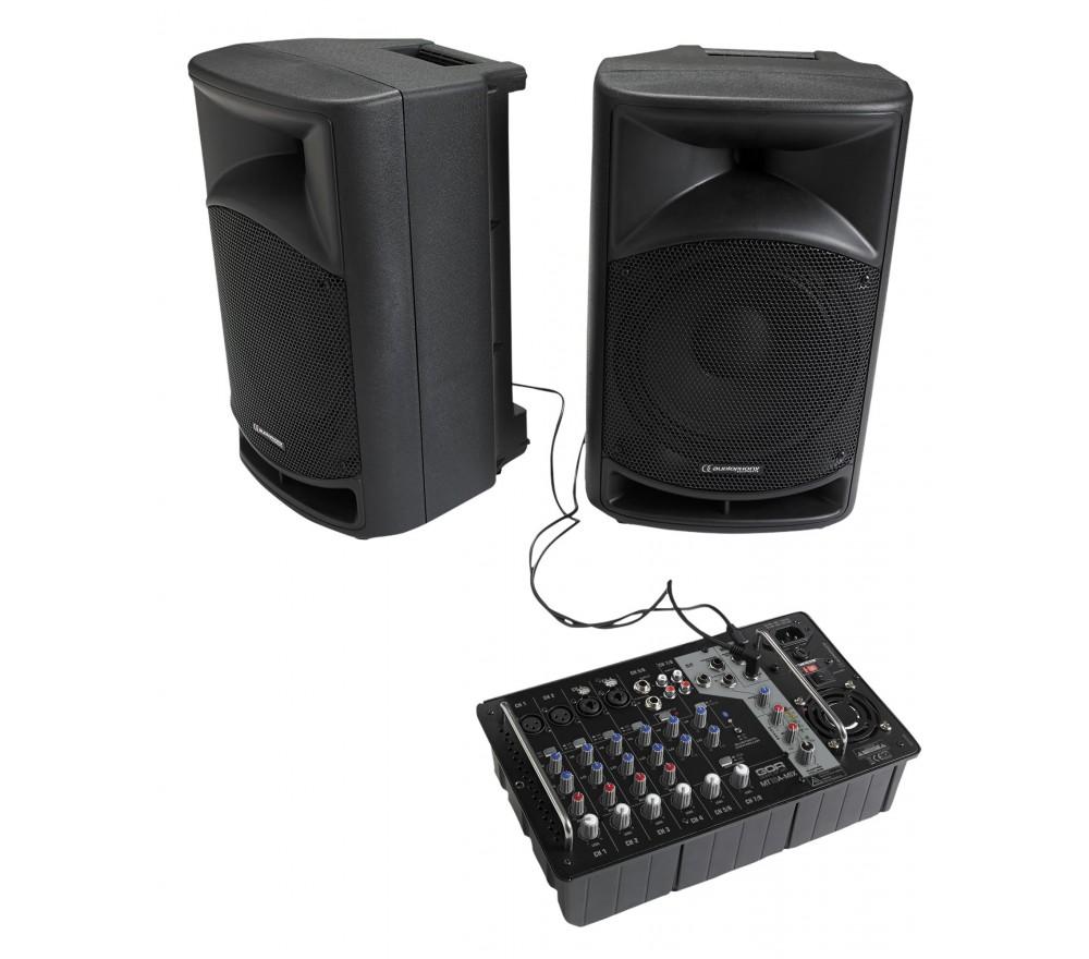 Enceintes Audiophony MT 10 a systeme 600 w avec bluetooth