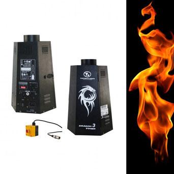 Projecteur de flamme Dragon Tower 3 DMX