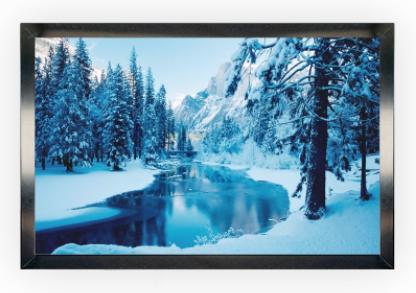 Ecran de projection sur cadre OSF RigidScreen 300×188 cm, format 16/10